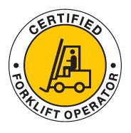 CERTIFIED FORKLIFT OPERATOR Hard Hat Stickers