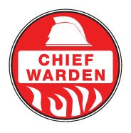 CHIEF WARDEN Hard Hat Stickers