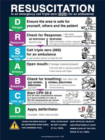 CPR Resuscitation Guide 3 Sign