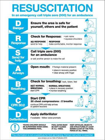 CPR Resuscitation Guide 5 Sign