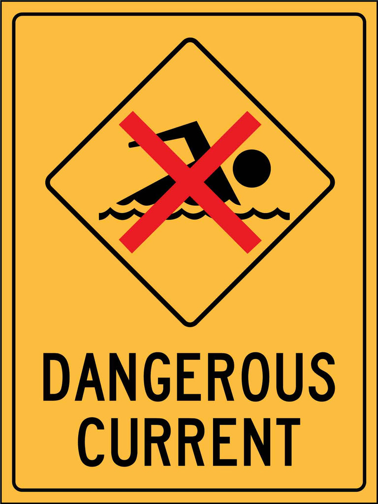 Caution Dangerous Current Sign