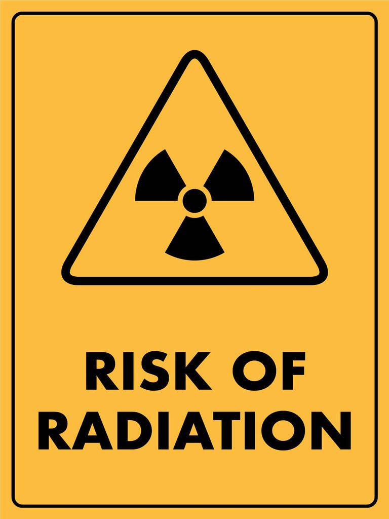 Caution Risk Of Radiation Sign