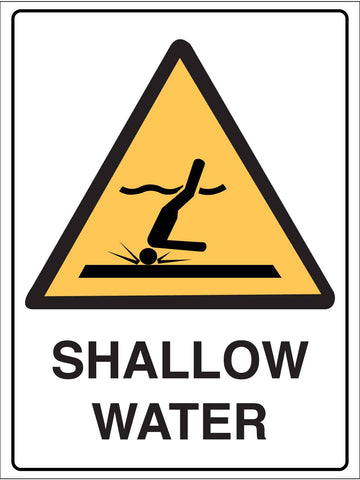 Caution Shallow Water Sign