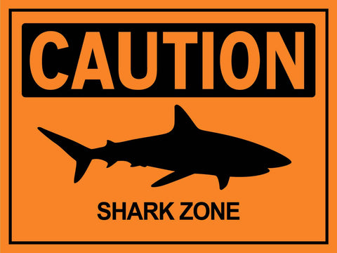 Caution Share Zone Orange Sign