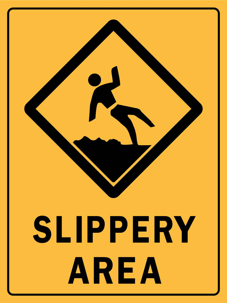 Caution Slippery Area Sign