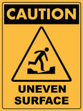Caution Uneven Surface Symbol Sign