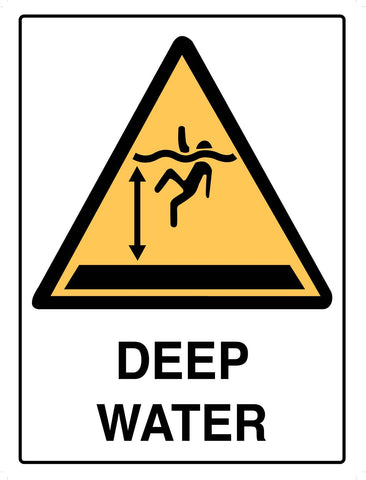 Caution Deep Water Sign