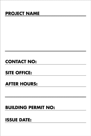 Construction Owner Builder Sign