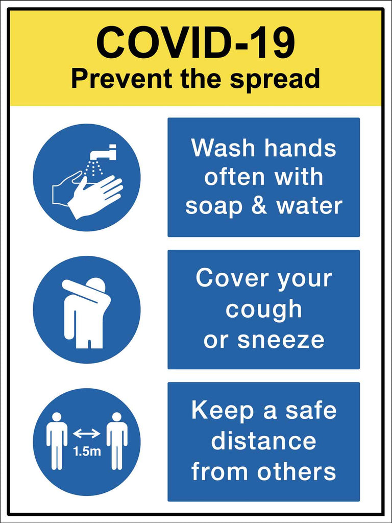 Covid-19 Prevent the Spread Sign