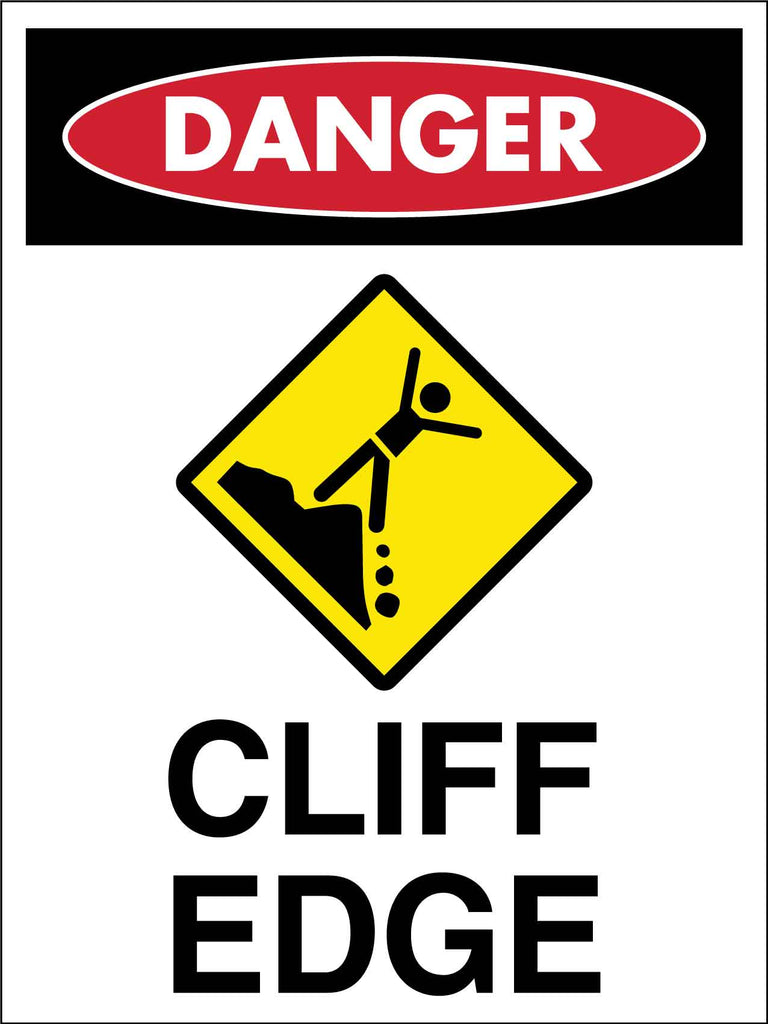 Danger Cliff Edge Sign