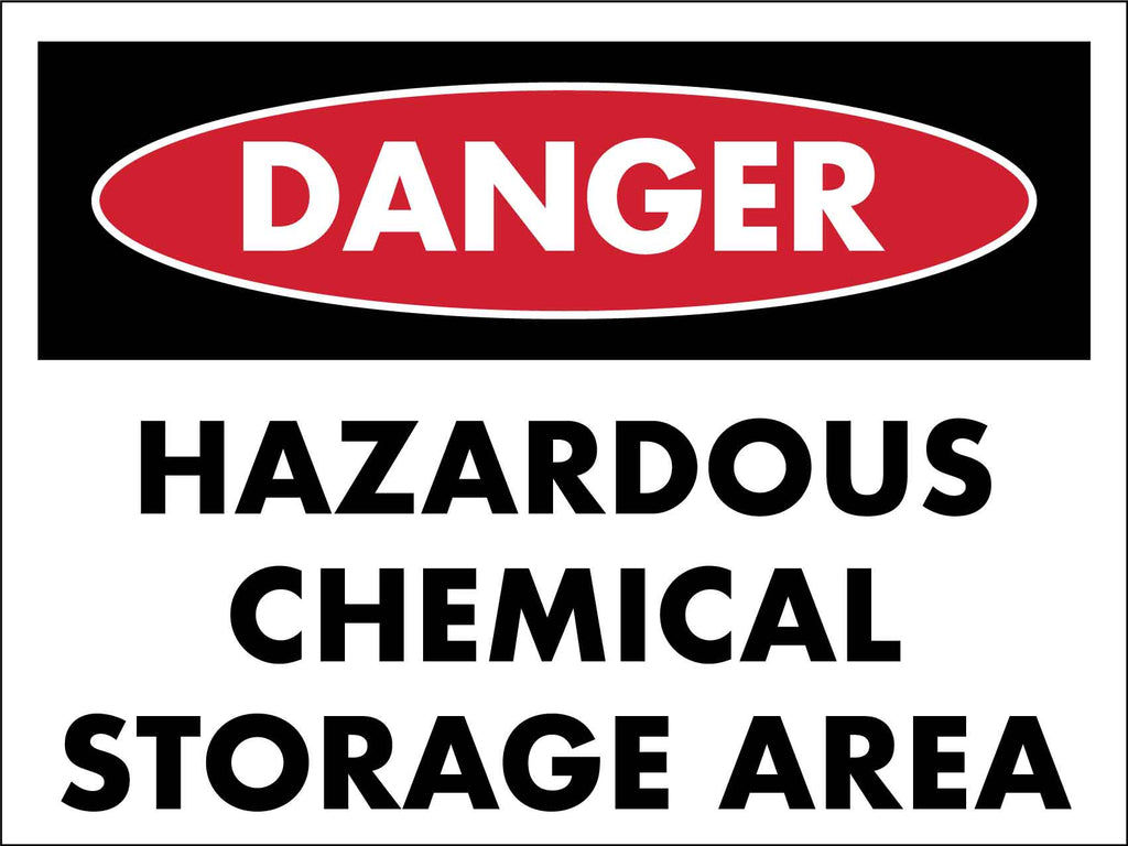 Danger Hazardous Chemical Storage Area