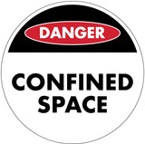 Danger Confined Space Decal