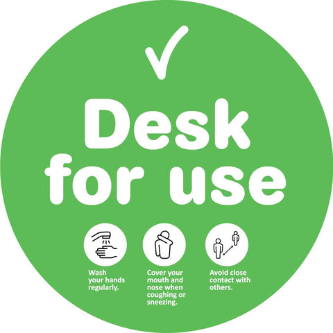 Desk For Use Decal