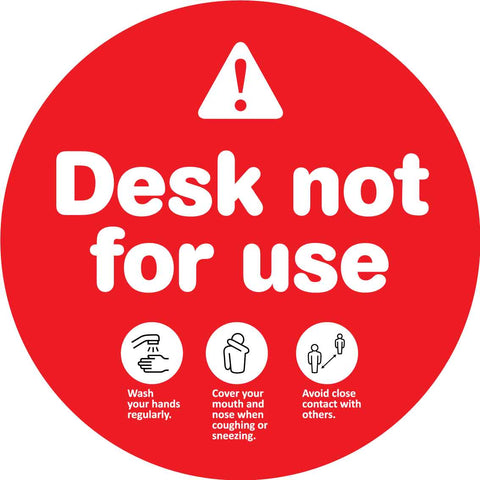 Desk Not For Use Decal