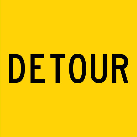 Detour Multi Message Reflective Traffic Sign