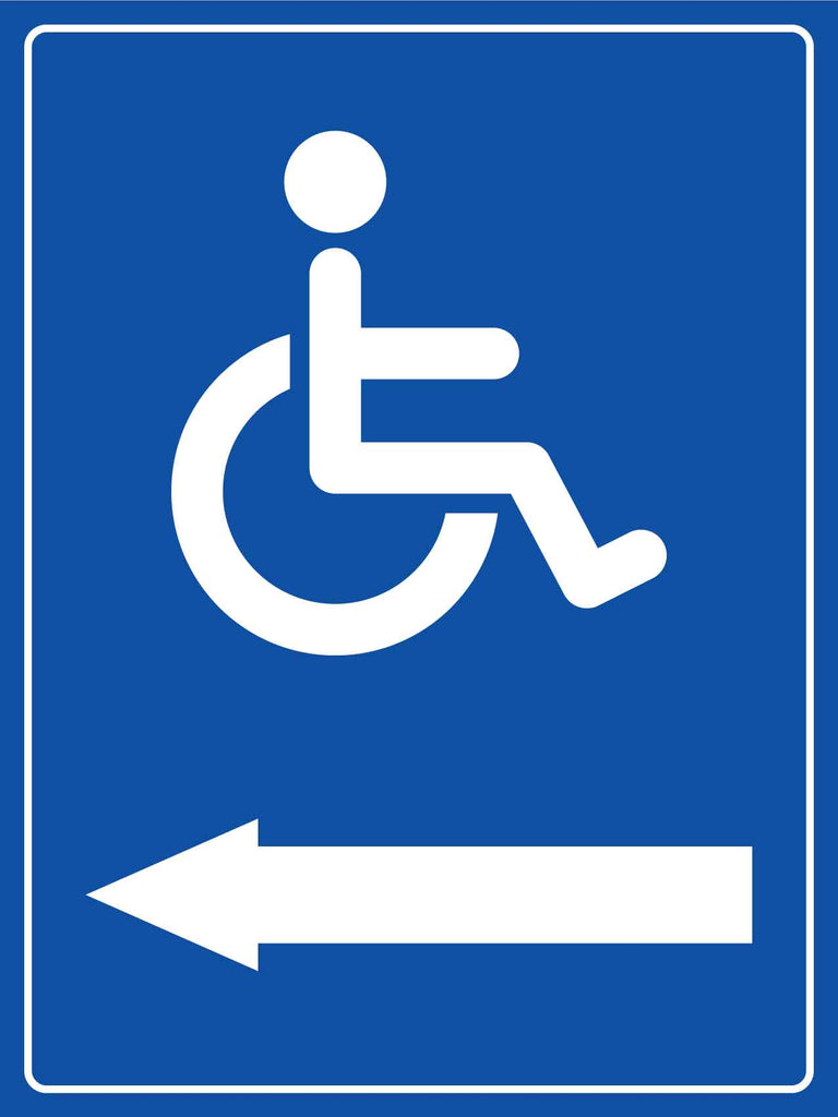 Disabled Arrow Left Sign