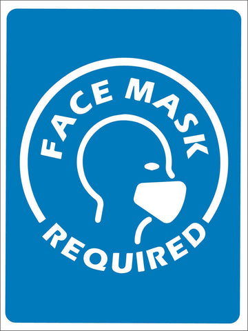 Face Mask Required Image Blue Sign