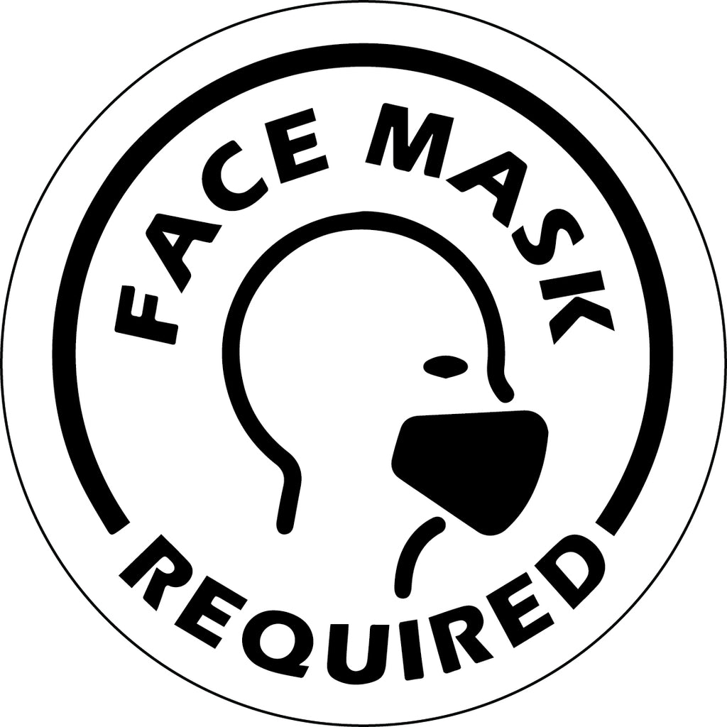 Face Mask Required Black Decal