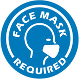 Face Mask Required Blue Decal