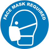 Face Mask Required Symbol Blue Decal