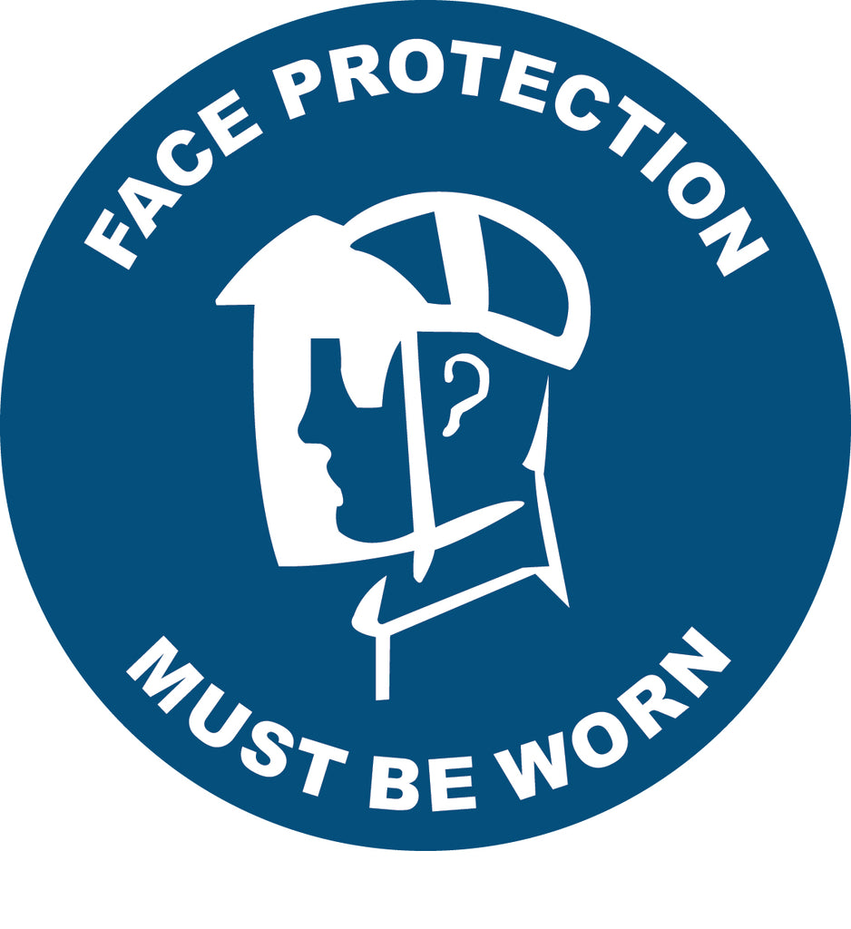 Face Protection Decal