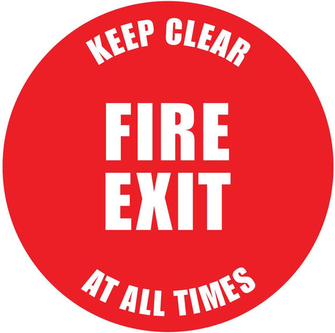 Fire Exit Keep Clear Decal