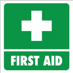 First Aid Vehicle Sticker