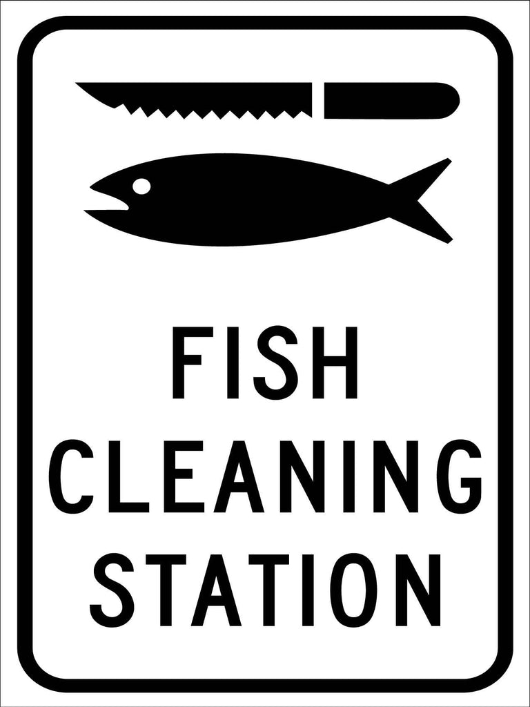 Fishing Cleaning Station Sign