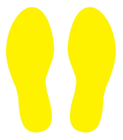 Footprint Floor Stickers - Anti Slip