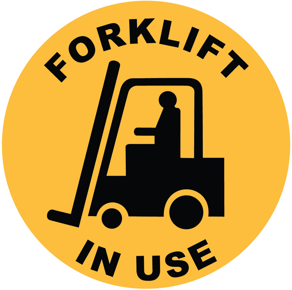 Forklift In Use Decal