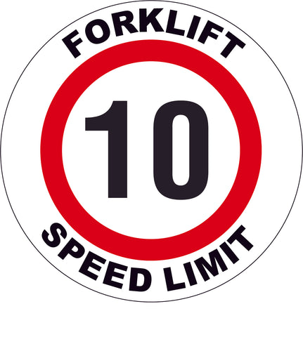 Forklift Speed Limit 10 Decal