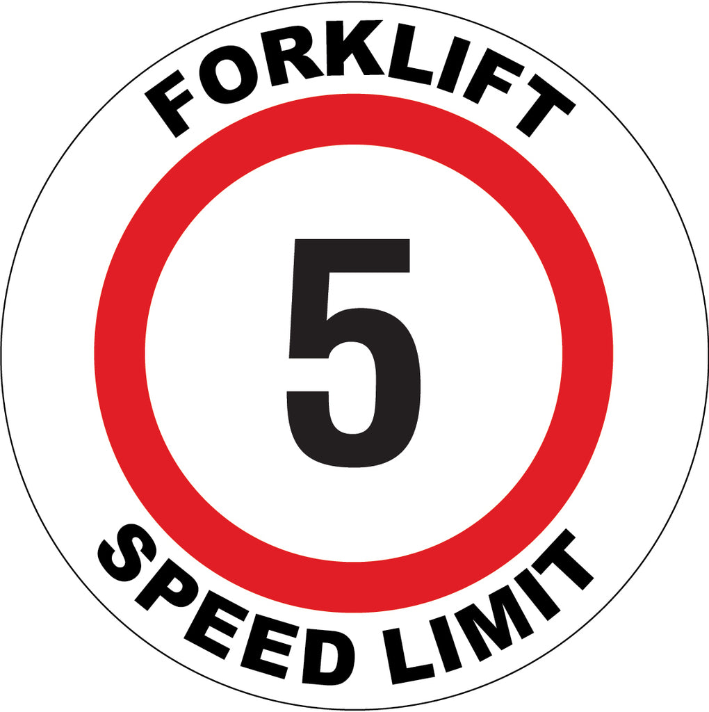 Forklift Speed Limit 5 Decal