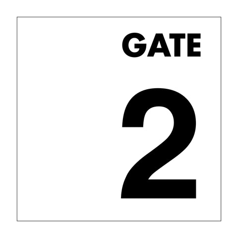 Gate No 2 Sign