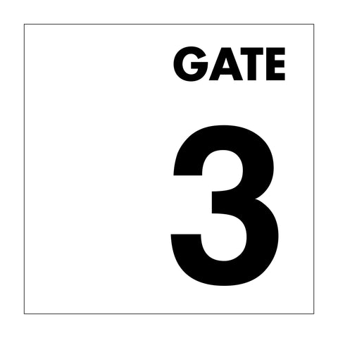 Gate No 3 Sign