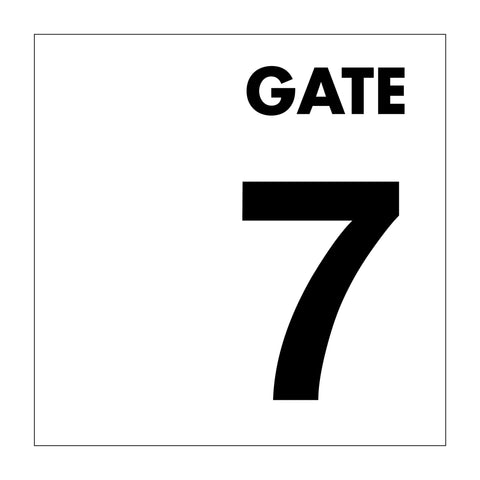 Gate No 7 Sign