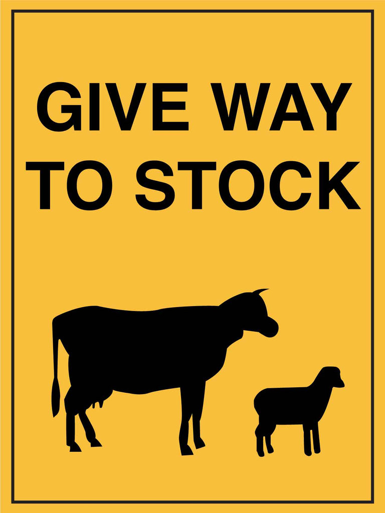 Give Way To Stock Sign