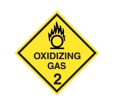 Hazchem CLASS 2 - OXIDIZING GAS - Sticker