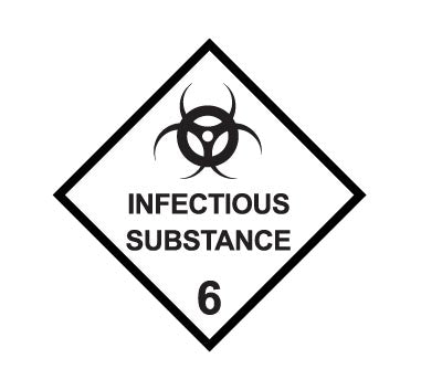 Hazchem CLASS 6 - INFECTIOUS SUBSTANCE - Sticker