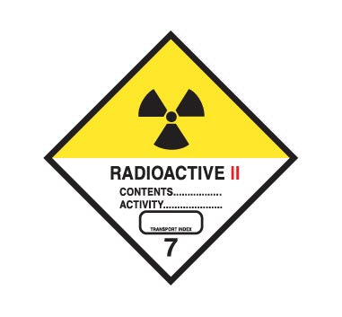 Hazchem CLASS 7 - RADIOACTIVE - CATEGORY 2 - Sticker