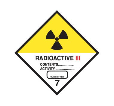 Hazchem CLASS 7 - RADIOACTIVE - CATEGORY 3 - Sticker