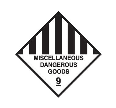 Hazchem CLASS 9 - MISCELLANEOUS DANGEROUS GOODS - Sticker