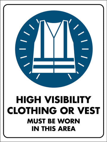 HiVis Vest Area Safety Sign