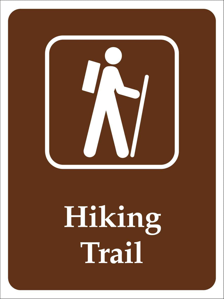 Hiking Trail Campground Sign