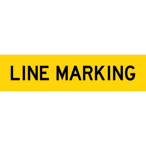 Line Marking Long Skinny Multi Message Reflective Traffic Sign
