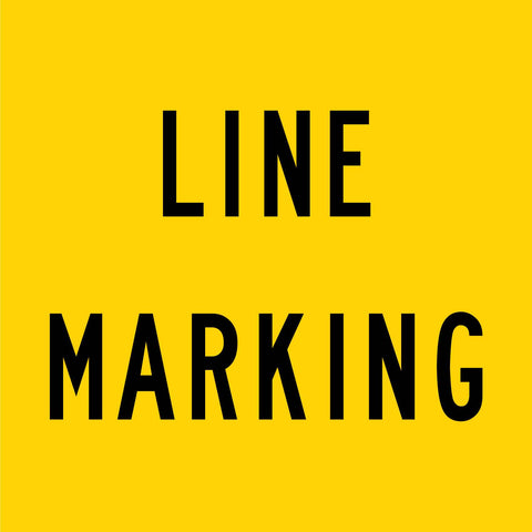 Line Marking Multi Message Reflective Traffic Sign