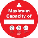 Maximum Capacity of Red Decal