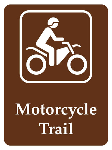 Motorcycle Trail Campground Sign