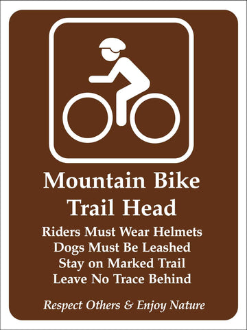 Mountain Bike Trail Head Campground Sign