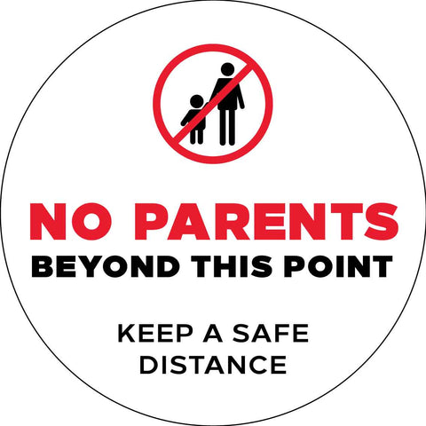 No Parents Beyond This Point Decal
