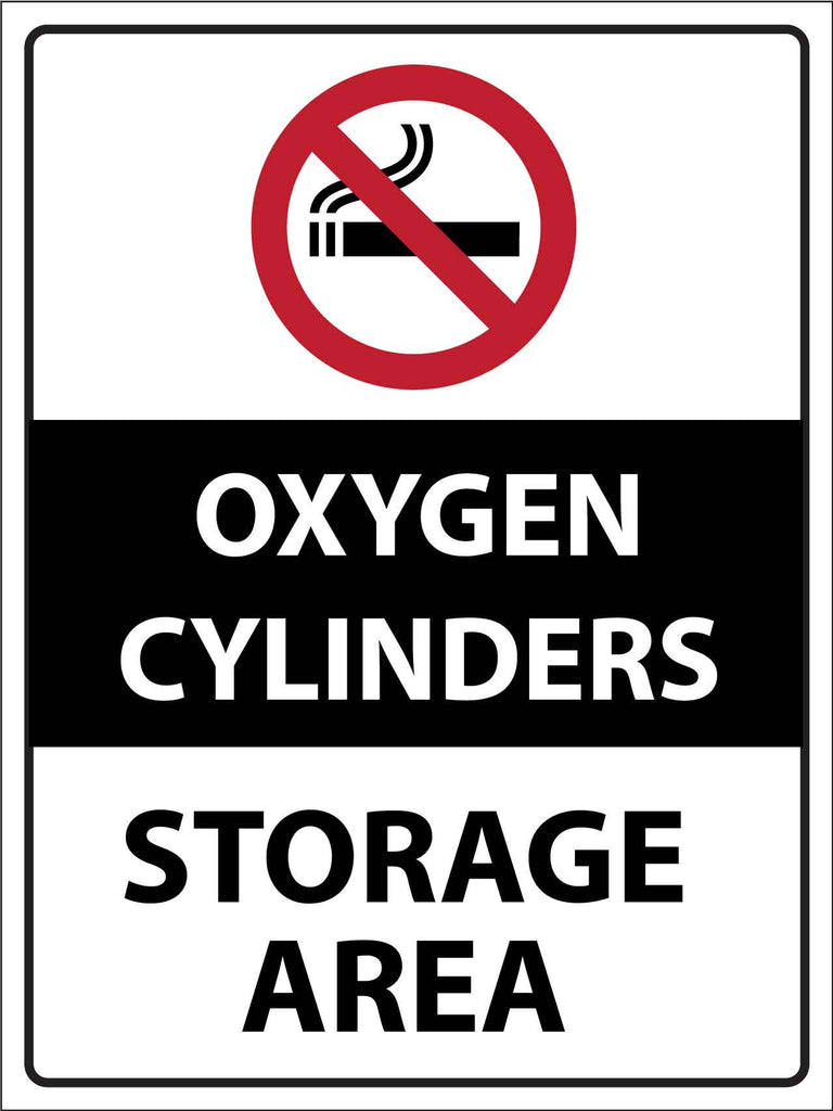 Oxygen Cylinders Storage Area Sign
